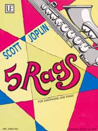 5 Rags Joplin Scott For saxophone and piano for saxophone in bb or eb and p